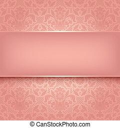 różowy, dekoracyjny, budowla, 10, eps, wektor, tło, texture.