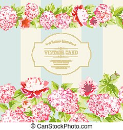 różowy, flowers., etykieta