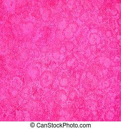 różowy, gąbczasty, grunge, tło, textured