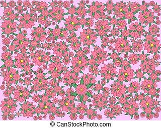 różowy, illustration., kolor, lekki, abstrakcyjny, tło., sakura, kwiaty