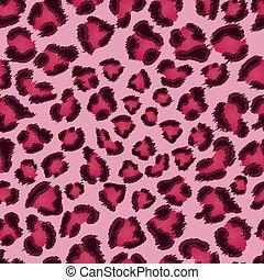 różowy, lampart, pattern., seamless, struktura