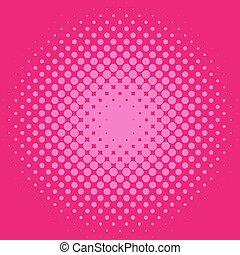 różowy, nachylenie, halftone, tło modelują