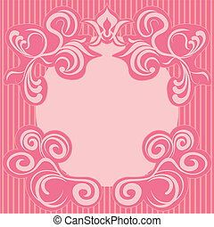 różowy, ozdoba, abstrakcyjny, ułożyć