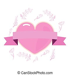 różowy, serce, moc dziewczyny