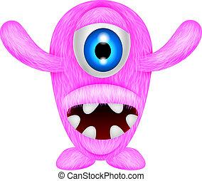 różowy, straszliwy, potwór