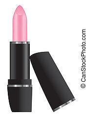 różowy, szminka