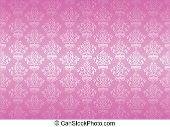 różowy, wektor, tapeta