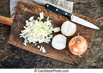 rąbane cebule