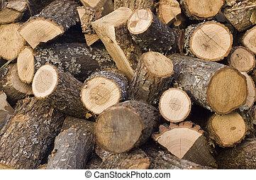 rąbany, drewno opałowe, kloce