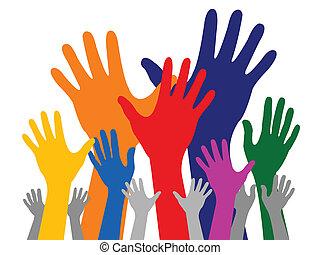 ręka, barwny