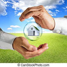 ręka, dom