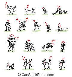ręka, miłość, rysunek, rysunek