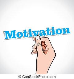 ręka, motywacja, słowo