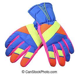 rękawiczki, narta