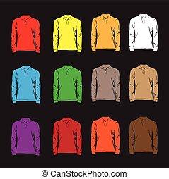 rękawy, t-shirts., długi