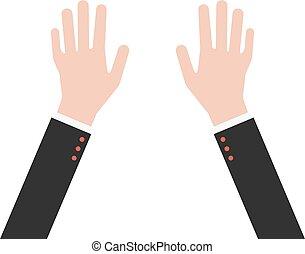 ręki do góry, handlowy dostosowują