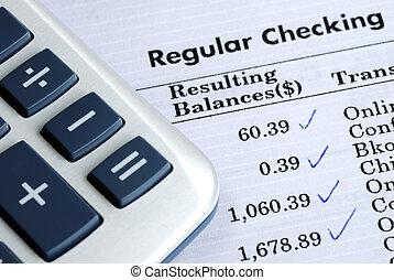 rachunek, waga, bank szach, deklaracja