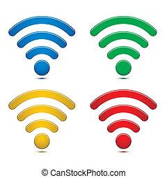 radiowy, symbolika, komplet, sieć
