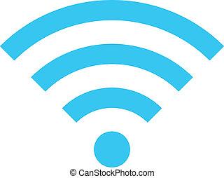 radiowy, wektor, sieć, ikona