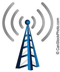 radiowy, wieża