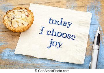 radość, serwetka, -, typować, tekst, dzisiaj