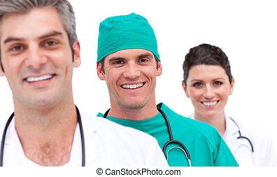 radosny, medyczny zaprzęg, portret