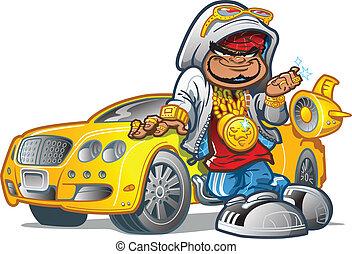 rajfur, wóz, gangsta