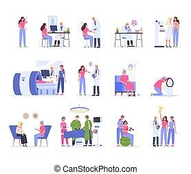 rak, traktowanie, terapia, diagnostyka, rehabilitation., szpital, medyczny