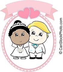 rasowy, chować, rysunek, ślub