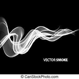 realistyczny, czarnoskóry dymią się, tło, wektor