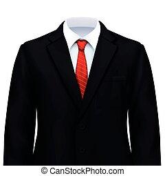 realistyczny, samiec, skład, garnitur