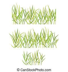 realistyczny, trawa, zielony