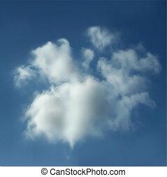 realistyczny, wektor, clouds.