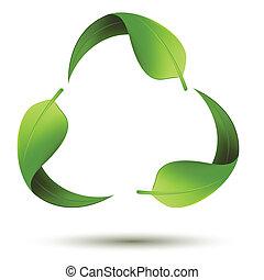 recycle symbol, liść