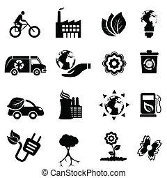 recycling, eco, energia, czysty
