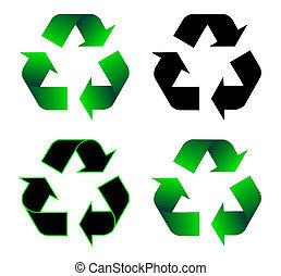 recycling, ikona