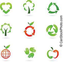 recycling, ikony