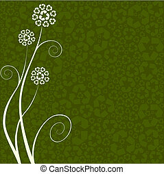 recycling, pojęcie, kwiat