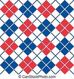 red-white-blue, próbka, argyle