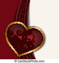 red-white, serce, tło