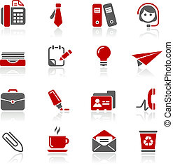 redico, biuro, handlowy, &, ikony, /