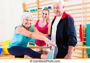 rehab, senior, terapia, fizyczny