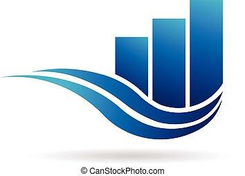rejestry adwokatów, handlowy, fale, szablon, profesjonalny, logo