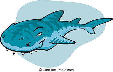 rekin tygrysa, rysunek