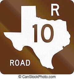rekreacyjny, texas, droga, tarcza