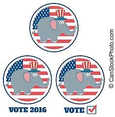 republikanin, zbiór, słoń