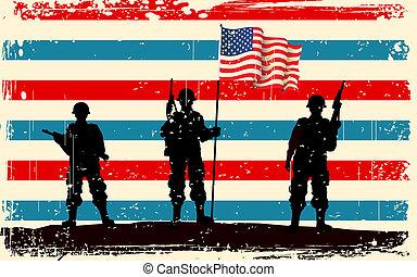 reputacja, żołnierz, amerykańska bandera