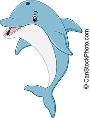 reputacja, delfin, ilustracja