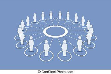 reputacja, dookoła, ludzie, złączony, każdy, koło, others.