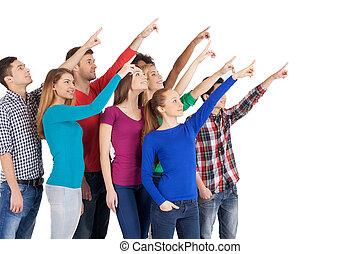 reputacja, grupa, spoinowanie, ludzie, odizolowany, precz, młody, to, radosny, znowu, inny, multi-ethnic, każdy, zamknięcie, biały, plane?
